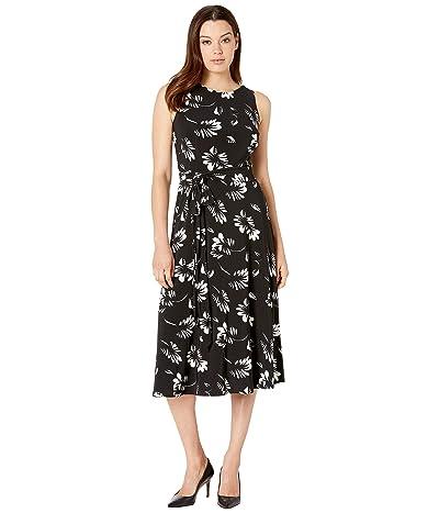 LAUREN Ralph Lauren Felia Dress (Black/Colonial Cream) Women