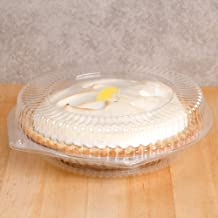 """10"""" Plastic Disposable Pie Containers with Hinged Locking Lids 