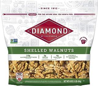 Diamond of California Shelled Walnuts, 16 Ounce (Packaging May Vary)