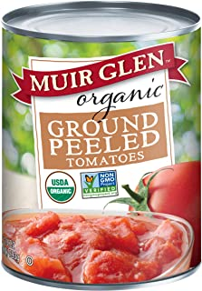 Muir Glen Canned Tomatoes, Organic Ground Peeled Tomatoes, No Sugar Added, 28 Ounce Can (Pack of 12)