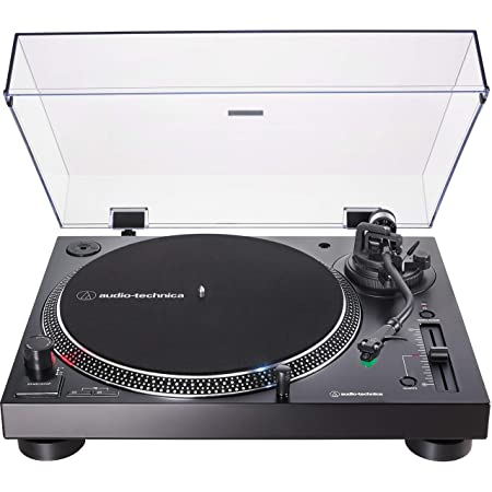 Audio-Technica AT-LP120XUSB-BK Direct-Drive Turntable (Analog & USB), Fully Manual, Hi-Fi, 3 Speed, Convert Vinyl to Digital, Anti-Skate and Variable Pitch Control Black