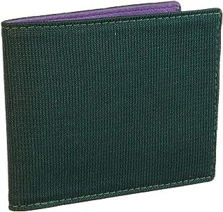40 COLORI - Portafoglio Tinta Unita in Pelle e Maglia di Seta (USA), Verde-Viola,