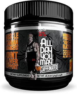 Rich Piana 5% Nutrition All Day You May Caffeinated BCAA & Joint Recovery Drink (Southern Sweet Tea)