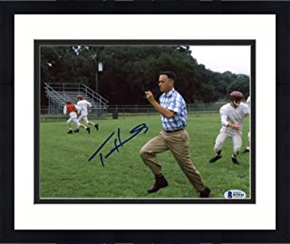 "Framed Tom Hanks Autographed 8"" x 10"" Forrest Gump Running on Football Field Photograph - Beckett COA - Beckett Authentication"