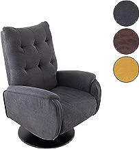 Adec - Swing, Sillón Relax Giratorio, tapizado en Tejido Color Gris, butaca Descanso, Medidas: 77 cm (Ancho) x 73 cm (Fondo) 103 cm (Alto)