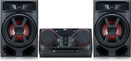 LG CK43 - Equipo de Sonido de Alta Potencia (300 W, Bluetooth, USB Dual, CD, FM) Color Negro