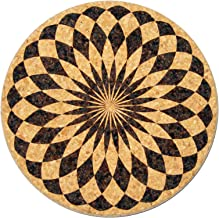 XL Coasters Harlequin Rosette (6 Inch, Set of 2) – Oversized cork absorbent drink coasters