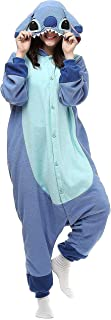 Adult Sti ch Onesie Animal Pajamas Christmas Cosplay Costumes Party Wear Blue