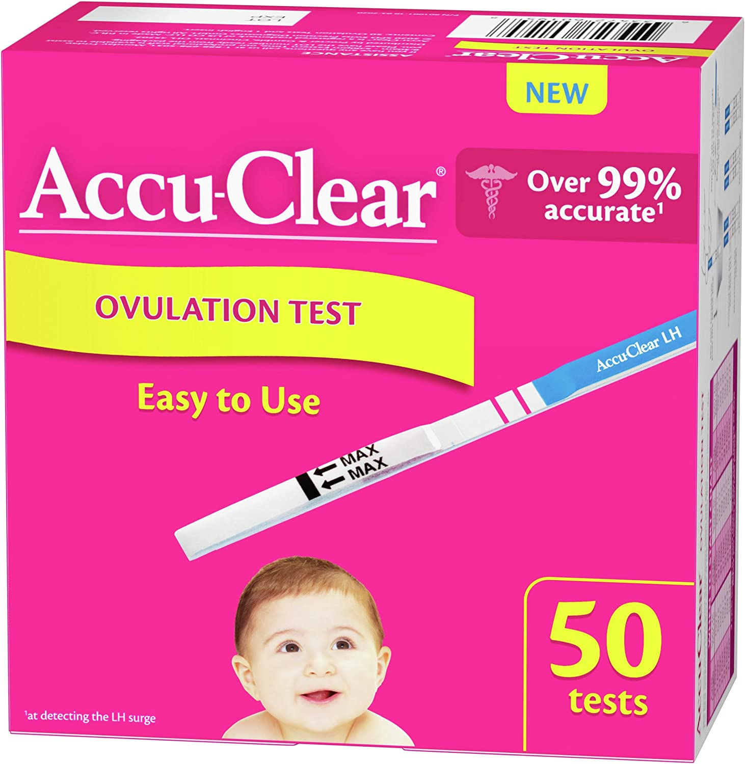 Accu-Clear Ovulation Test Strips Predictor Kit– Over 99 Accurate1 LH, 50 Count