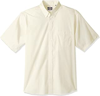 Izod Mens Regular Fit Short Sleeve Check Dress Shirt Dress Shirt