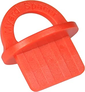 Myard DJS3.2 1/8 Inches Deck Board Jig Spacer Rings for Pressure Treated, Composite, PVC, Plank, Hardwood Decking Tool (Red, 20-Pack)