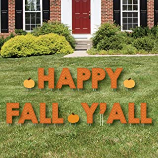 Big Dot of Happiness Pumpkin Patch - Yard Sign Outdoor Lawn Decorations - Fall or Halloween Party Yard Signs - Happy Fall Y'all
