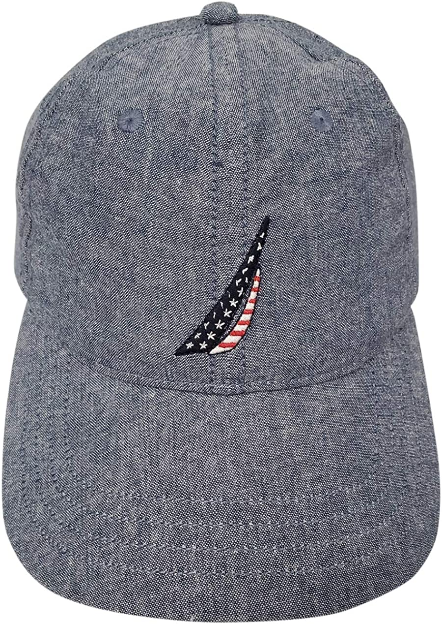 Nautica Mens J-Class Hat (One Size, Chambray (USAFlag Logo))