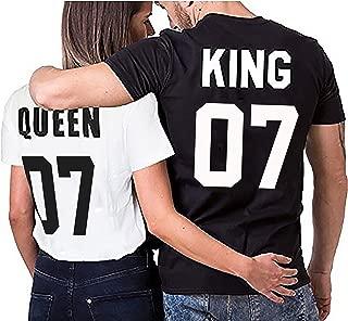Camiseta par Partnerlook Juego King Queen para Parejas como obsequio S-4XL