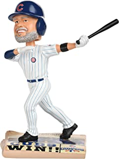 David Ross Chicago Cubs 2016 World Series Newspaper Base Bobblehead MLB