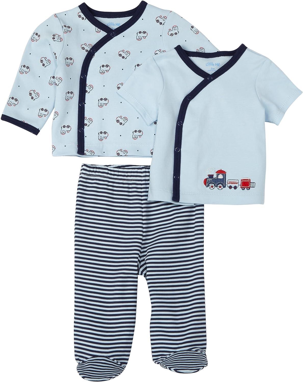 Little Me Choo Choo 3 Piece Set, Blue Stripe