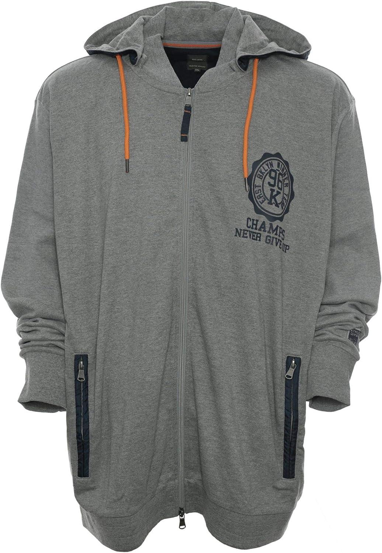 Kitaro Kapuzenjacke Hoody Jacket Sweatjacke Jacke Sweatshirt Herren Plusgre