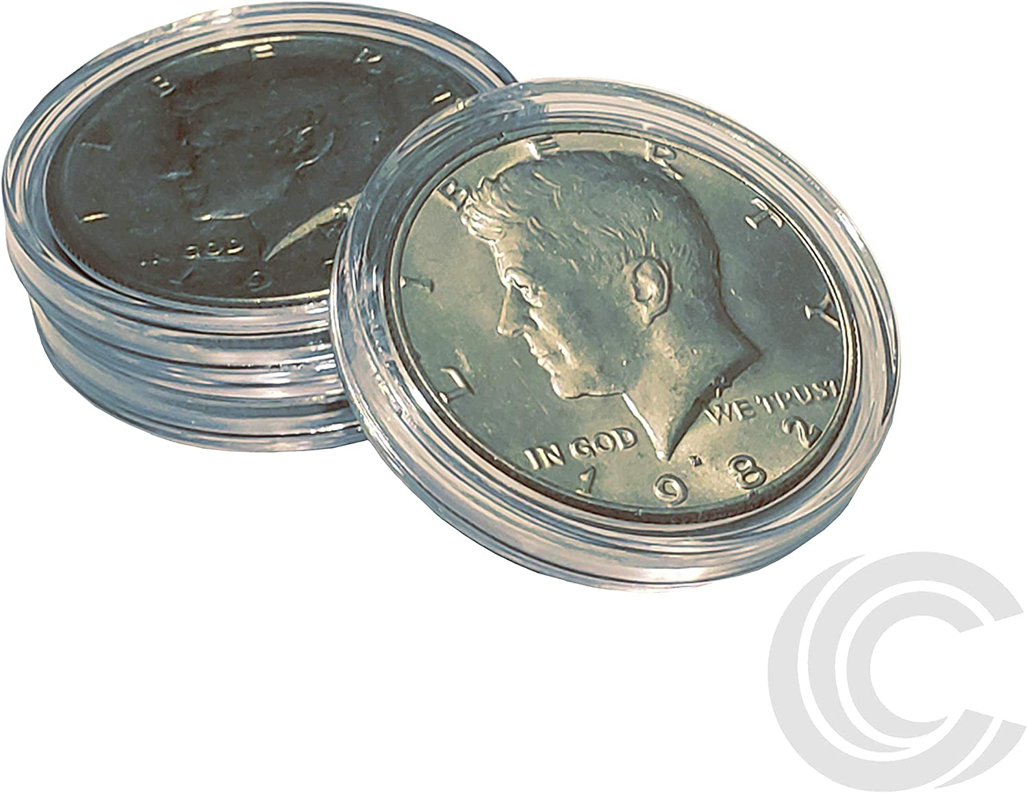 NEW 3 Airtite Direct Fit Coin Holder Capsules T30 For Half Dollar Like KENNEDY