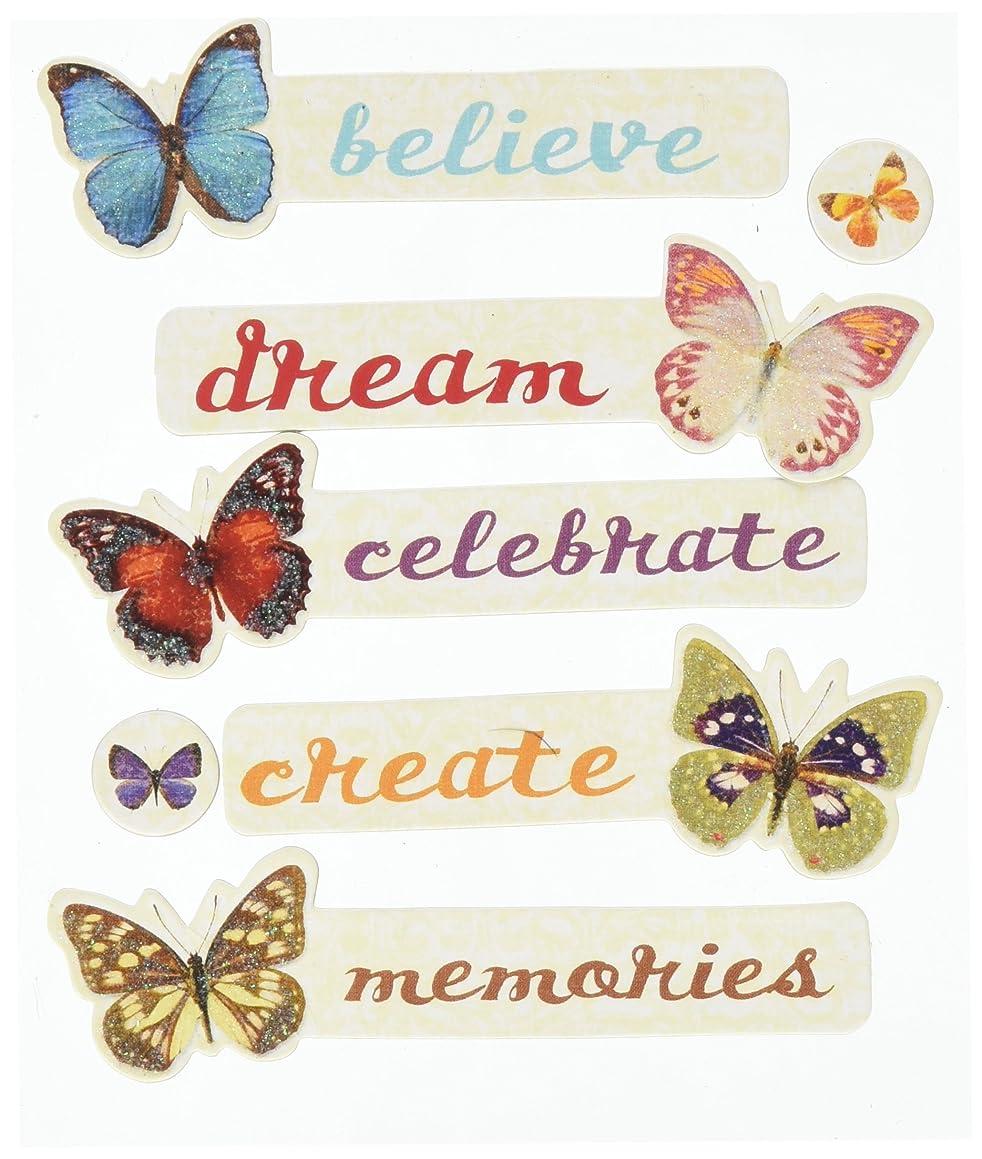 K&Company EK Success Butterfly Words Adhesive Chipboard