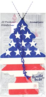 LITTLE TREES Car Air Freshener | Hanging Paper Tree for Home or Car | Vanilla Pride Scent | Pack of 12
