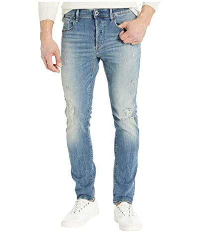 G-Star 3301 Slim in Antic Faded Ripped Marine (Antic Faded Ripped Marine) Men