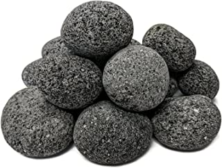 Midwest Hearth 100% Natural Lava Stones for Gas Fire Pit and Fireplace (Medium (1