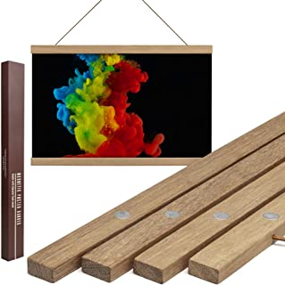Dacri Home Magnetic Poster Hanger Frame - 18x24 18x18 18x36 Large Compatibility – Easy Hanging Frame for Wall Art Picture Canvas Print Map (45 cm, Teak)