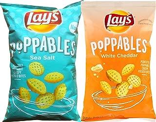 Lay's Poppables Sea Salt & Lay's Poppables White Cheddar Perfectly Poppable Crispy Potato Bites Net Wt 5 Oz (2)