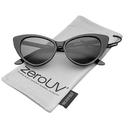 3e316f1ebc zeroUV - Women s Retro Oversized High Point Cat Eye Sunglasses 54mm