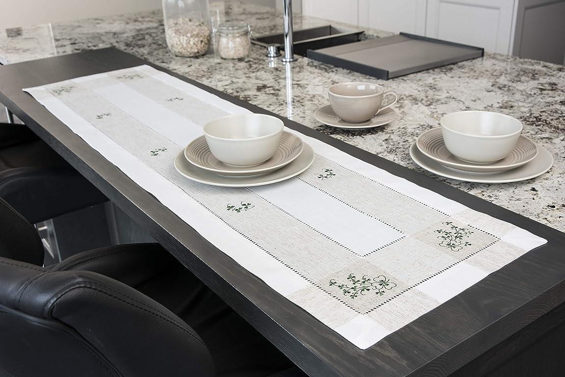 ディスクポール好戦的なSamuel Lamont Group Kinsale Irish Shamrock 刺繍テーブルランナー 12インチ x 72インチ
