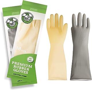 دستکش لاستیکی ظرفشویی آشپزخانه - 2 جفت دستکش تمیز کننده خانگی ضد آب و دستگیره ضد لغزش