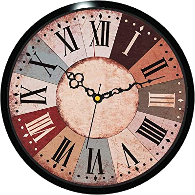 Vireo-11 inches- Antique Wall Clock for Home/Living Room/Bedroom/Kitchen and Office -4910
