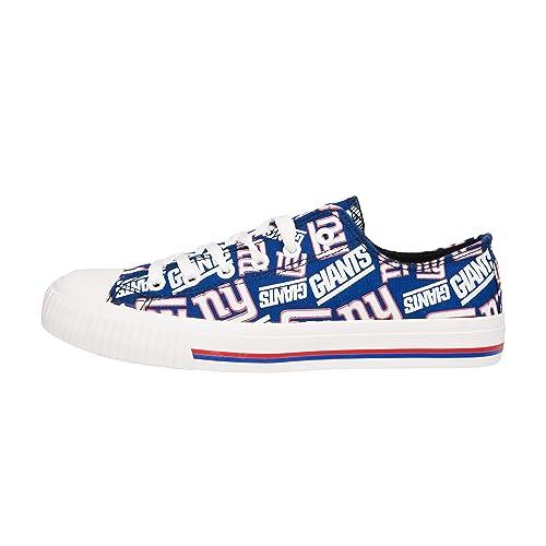 FOCO NFL Womens Low Top Repeat Print Canvas Shoes b662e4d1a