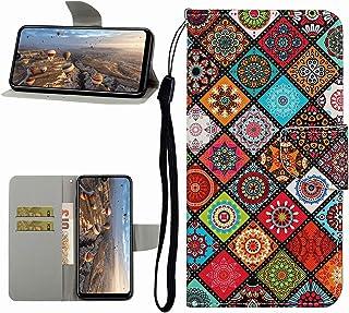 Miagon Helkroppsplånboksfodral för Huawei P Smart 2021, PU-läder skyddande flipskydd med handledsrem ID-korthållare magnet...