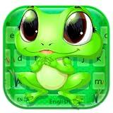 Cute Big Eyes Frog keyboard theme 🐸