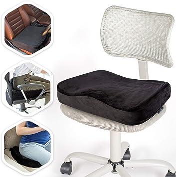 Aeris Memory Foam Seat Cushion for Office Chairs-Car Seat Cushion