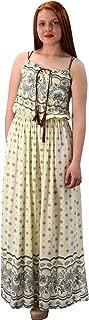 Peach Couture Womens Summer Exotic Floral Bohemian Tahiti Sleeveless Maxi Dress