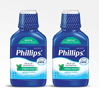 Phillips' Milk of Magnesia Laxative, Fresh Mint, 26 Fl Oz (Pack of 2)