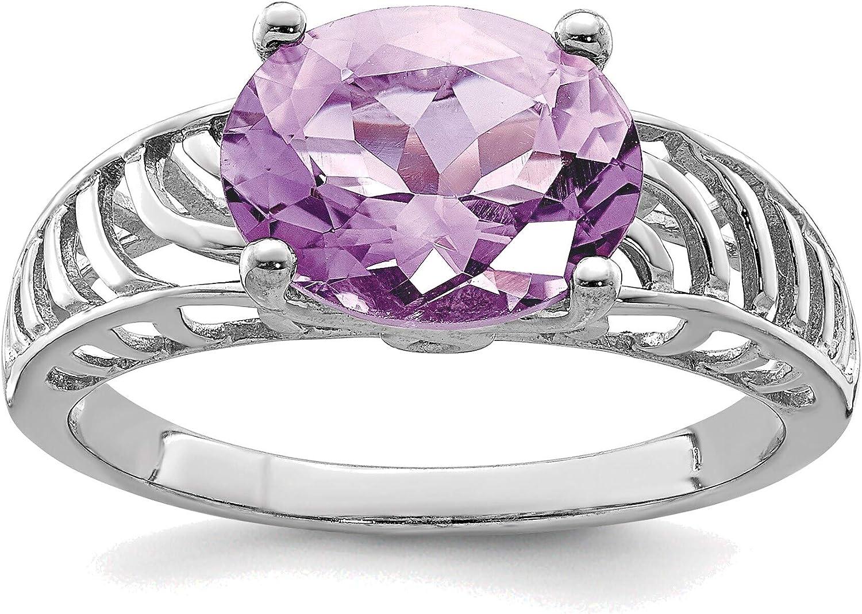 Omaha Mall Max 65% OFF Bonyak Jewelry Solid Sterling Silver Ri Quartz Pink Oval Rhodium