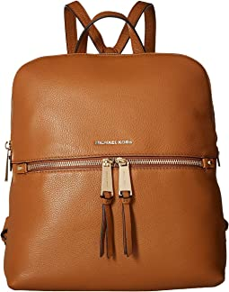 245734a880ba Michael michael kors rhea zip medium slim backpack brown | Shipped ...