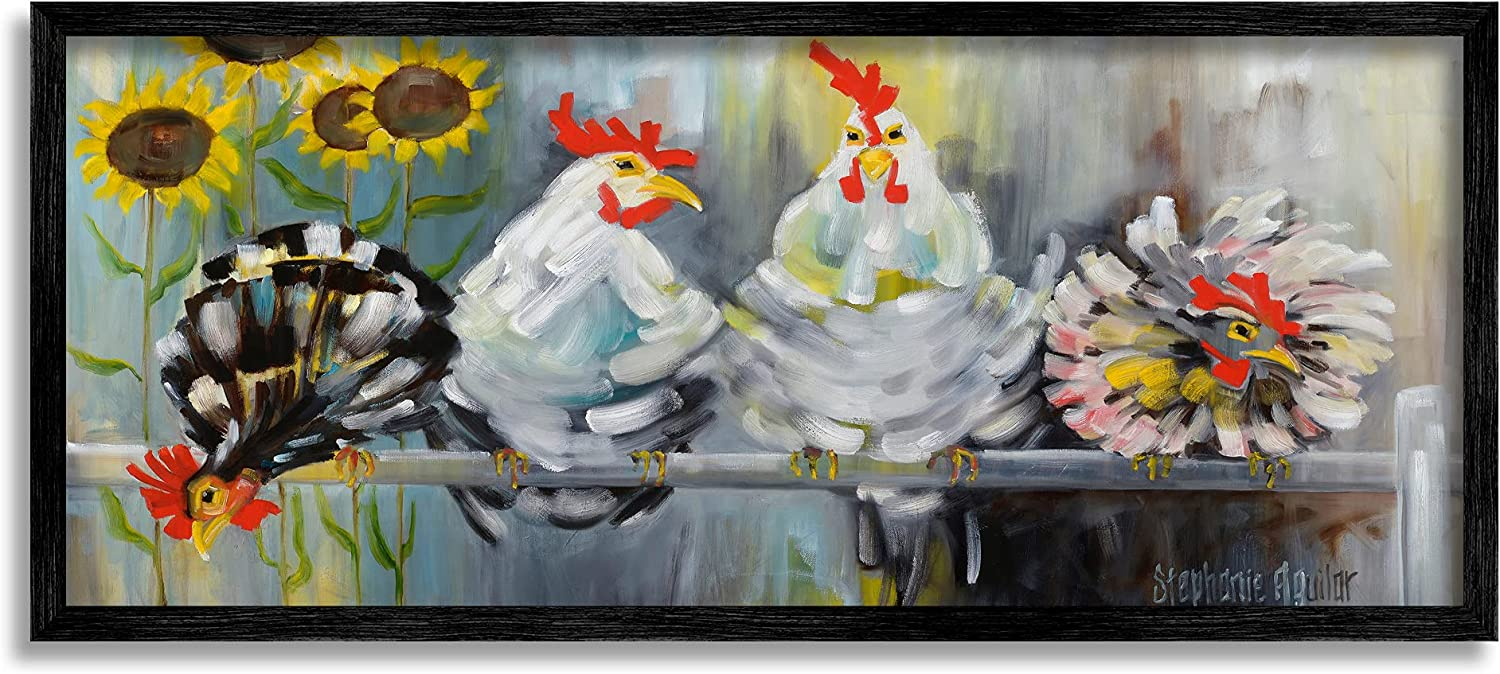 Stupell lowest price Industries Farm Chickens Be super welcome Ruffled and Sunflowers Feathers