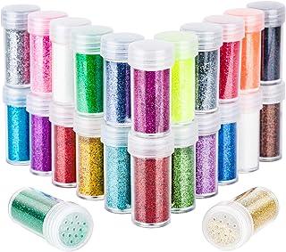 24 Colors Body Glitter, LEOBRO Cruelty-Free Extra Fine Glitter for Resin, Festival Glitter Makeup Glitter Cosmetic Glitter...