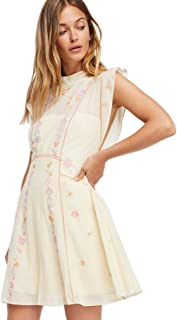 Free People Womens Riviera Embroidered Mesh Mini Dress