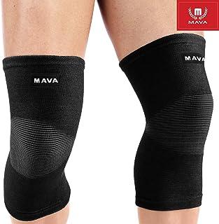 آستین های پشتیبانی از زانو در ورزش Mava (جفت) برای درد مفاصل و تسکین آرتروز ، بهبود فشرده سازی گردش خون - پشتیبانی موثر برای دویدن ، آهسته دویدن ، تمرین ، پیاده روی و بازیابی