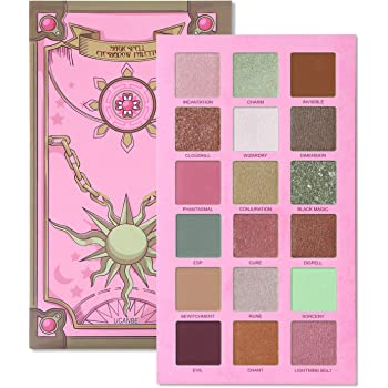 UCANBE Magic Spell Eyeshadow Palette 18 Color Pigment Matte Shimmer Glitter Eye Shadow Makeup - Nude Browm Peachy Pink Sage Green Velvet Texture Easy to Blend Long Lasting Pallet
