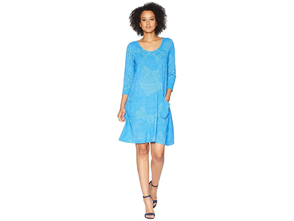 Fresh Produce White Tides Dalia Dress (Atlantic Blue) Women