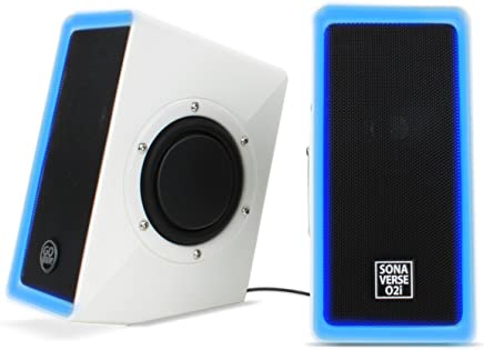 PC Computer USB Powered Speakers w/ 3.5mm AUX Input by GOgroove - SonaVERSE O2i