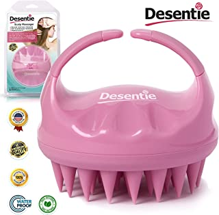 Desentie Hair Scalp Massager Exfoliating Personal Massager Brush With Silicone Spikes for Shampoo Scrubbing and Stimulating Hair Growth Pink