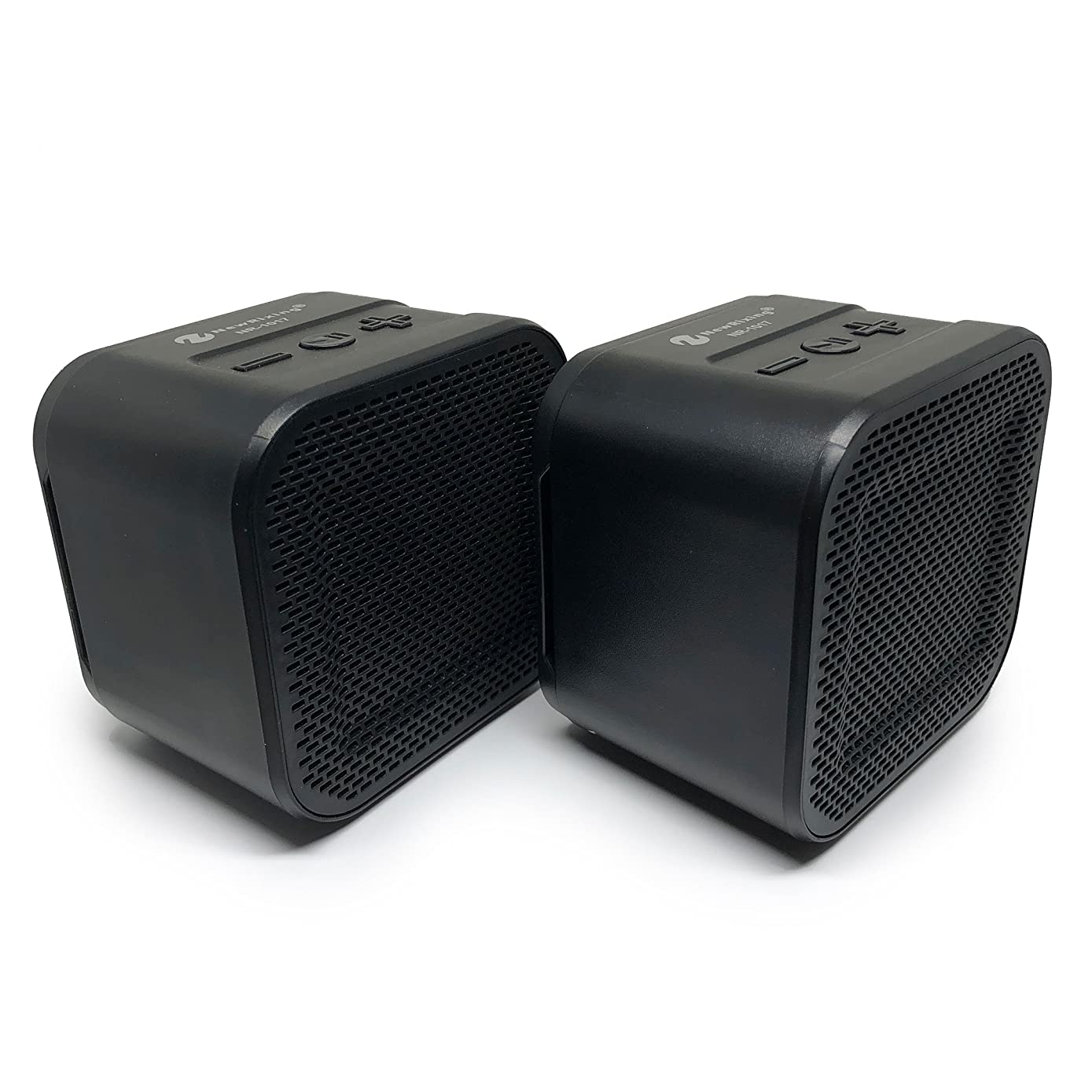 Bluetooth Speaker Set: True Wireless Twin Portable TWS Mini Stereo Pair Speakers Mic Outdoor Dual Big Bass Microphone FM SD TF Card for iPhone Android Samsung Galaxy Nexus Laptops MAC PC Tablets Echo