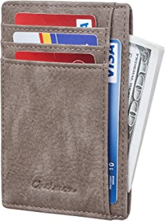 Chelmon Slim Wallet RFID Front Pocket Wallet Minimalist Secure Thin Credit Card Holder